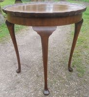Queen Anne Style Tall Mahogany Coffee Table